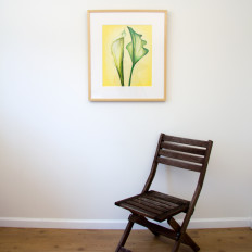 Green Callas - original with chair