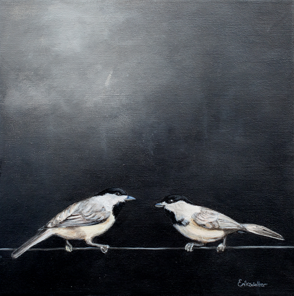 Two Birds on a Wire - Spring Art Auction 2013 - Painting No 5 ...